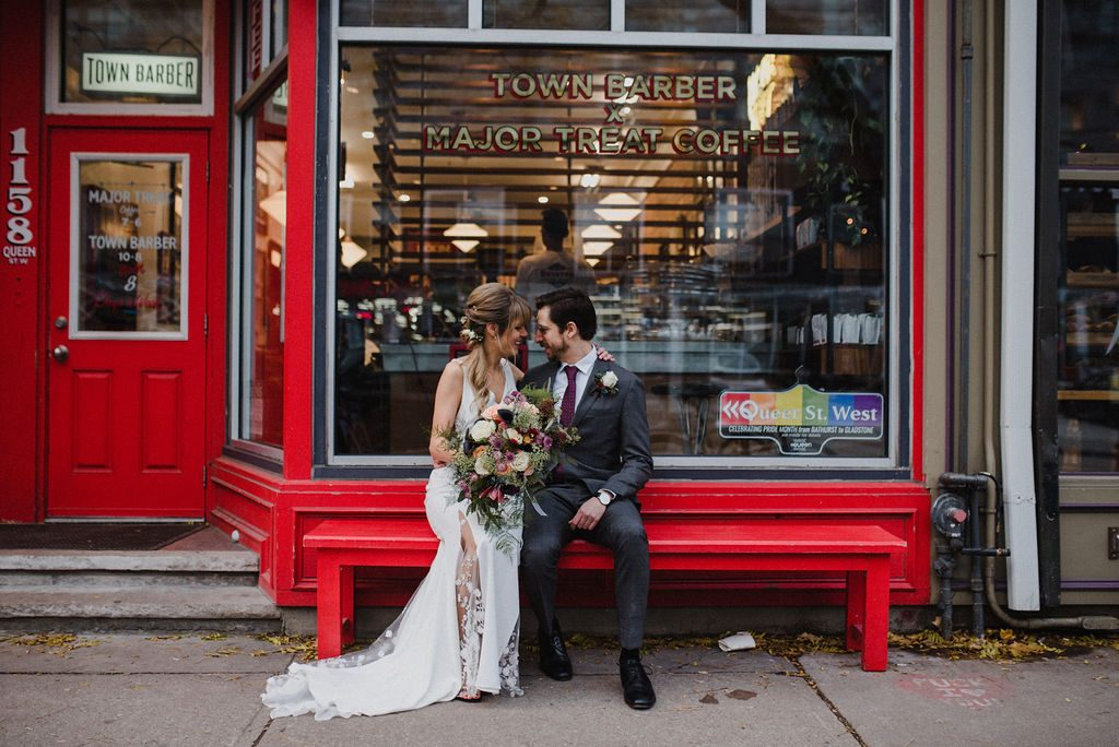 Town Barber Major Treat Coffee wedding photo