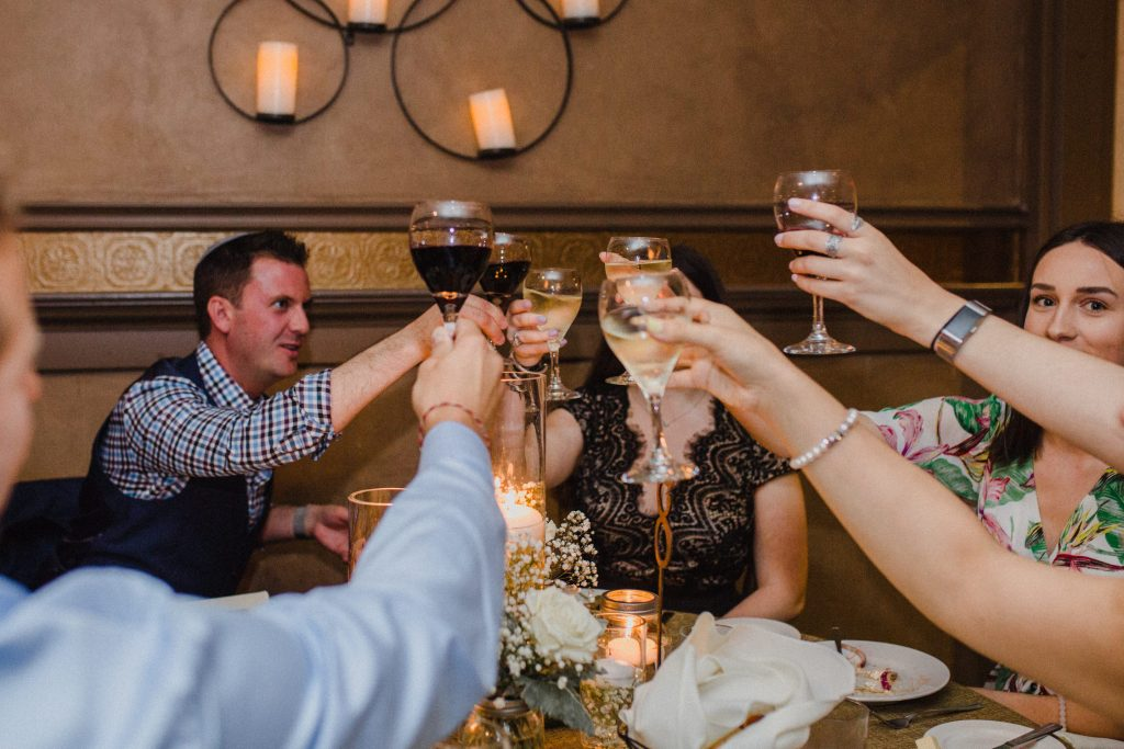 Bayview Wildwood Resort Wedding - cheers to the newlyweds