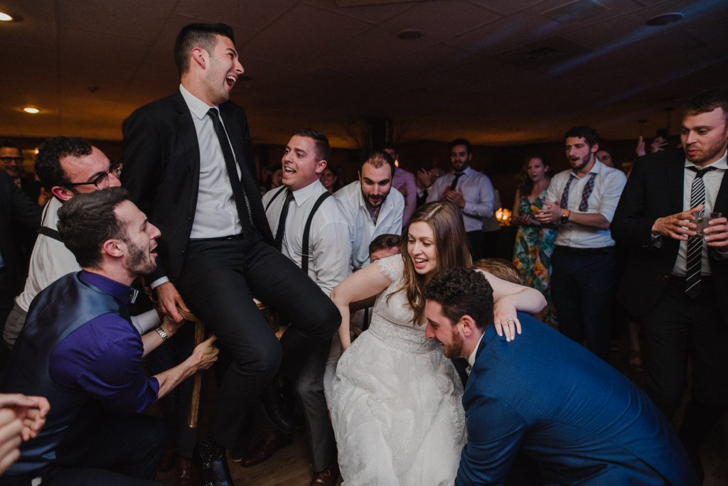 Bayview Wildwood Resort Wedding - starting the horah dance