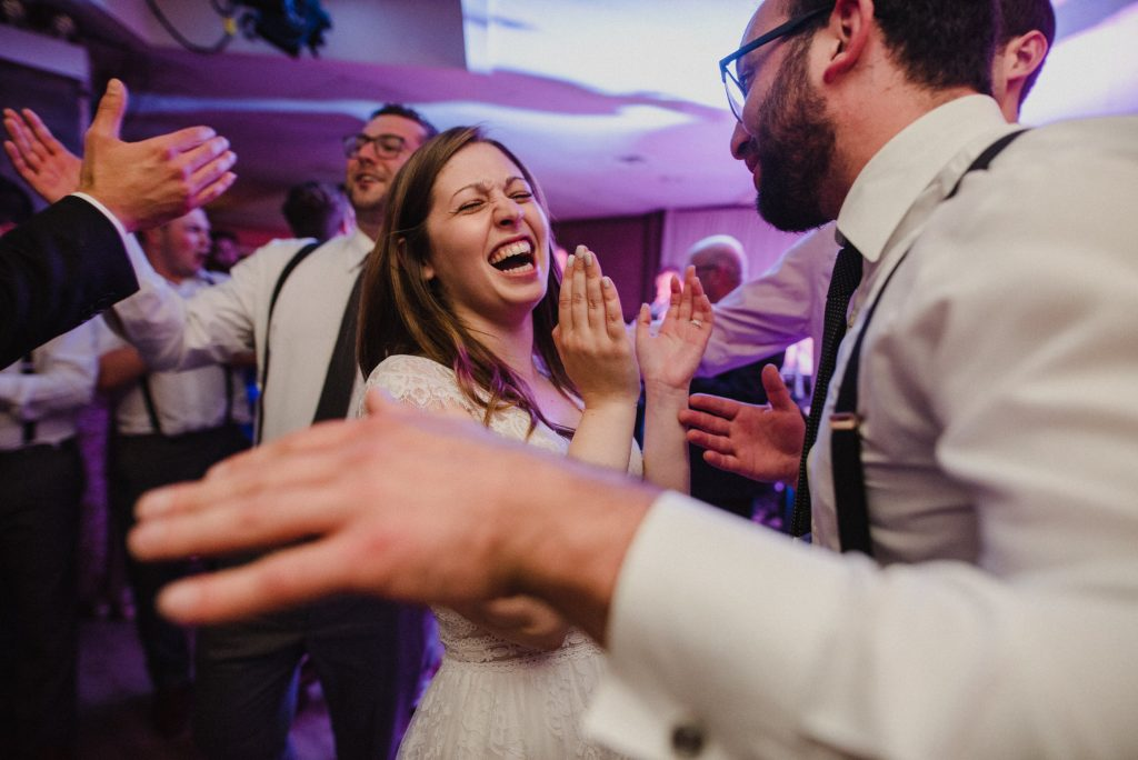 Bayview Wildwood Resort Wedding - bride laughing on the dancefloor