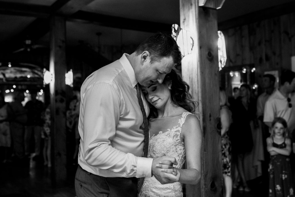 Bonnieview Inn Wedding - first dance tender embrace