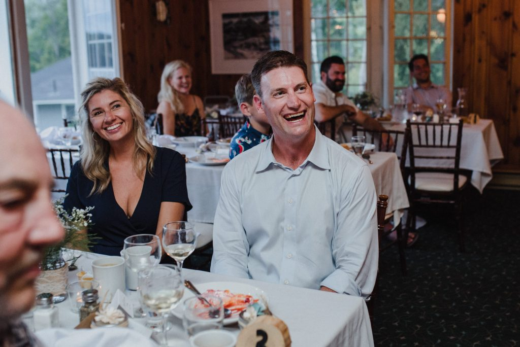 Bonnieview Inn Wedding - guests laugh during speeches