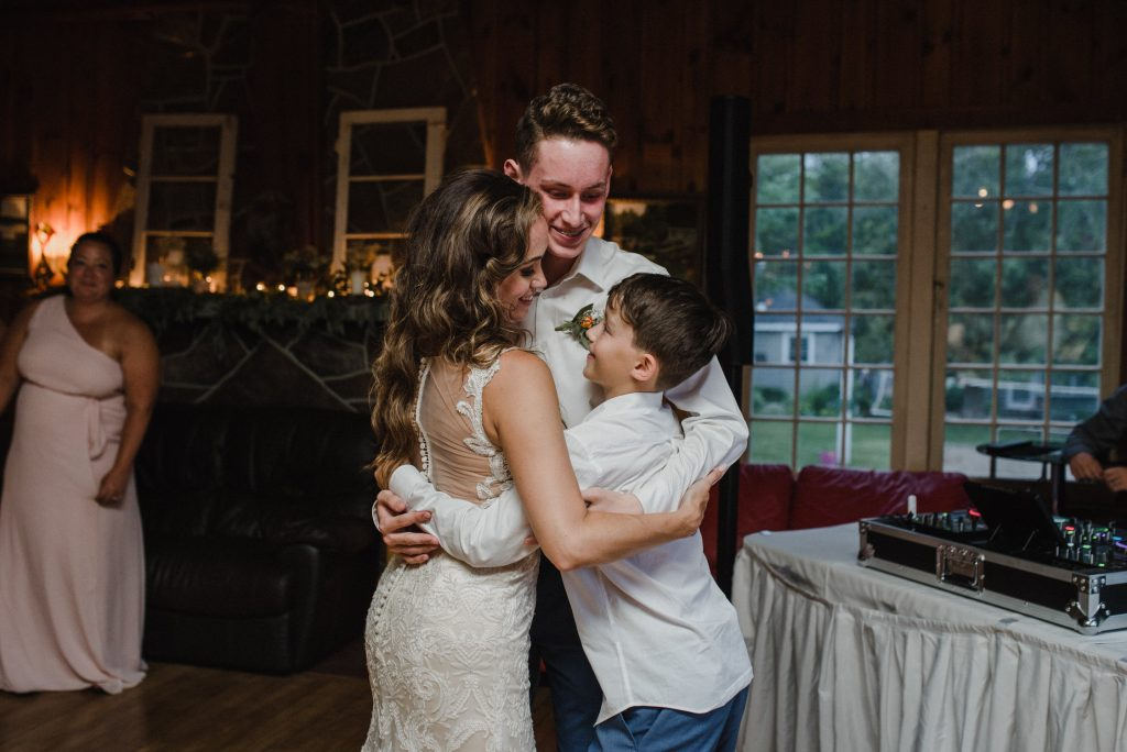 Bonnieview Inn Wedding - bride dances with her two sons