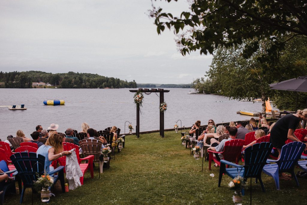 Bonnieview Inn Wedding - waterfront ceremony