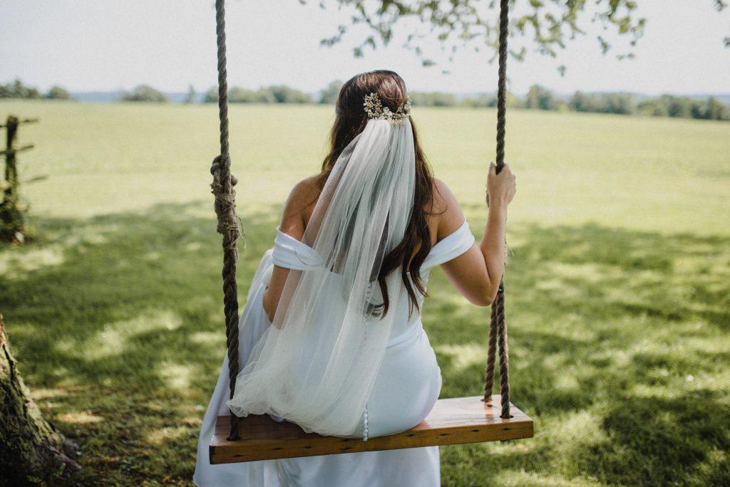 dyment's farm wedding - swinging bride