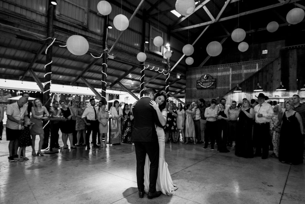 dyment's farm wedding - first dance
