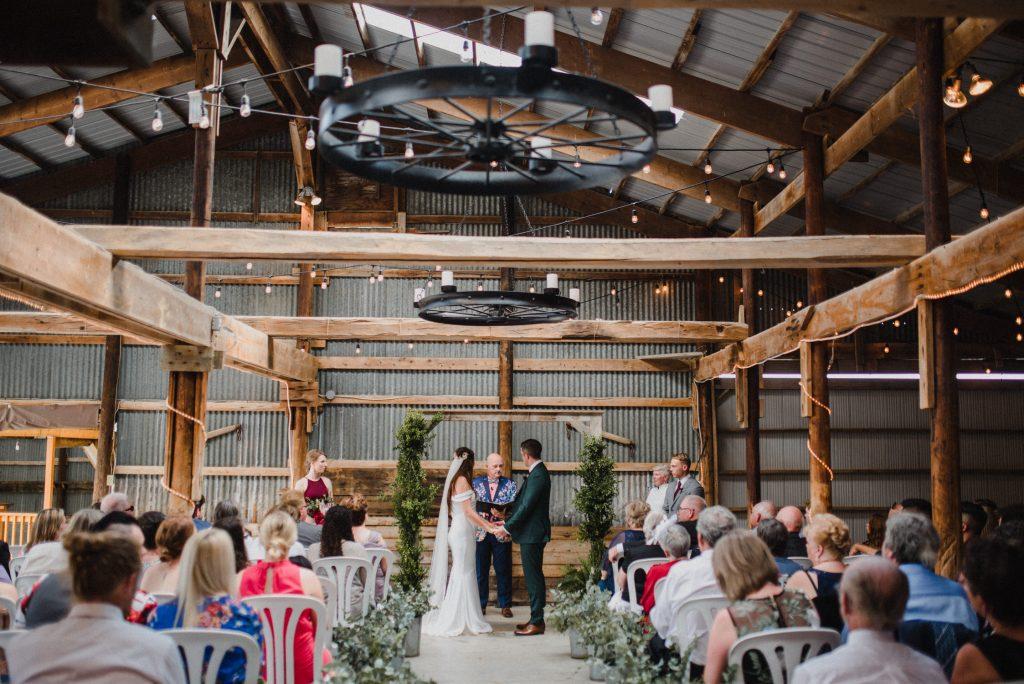 dyment's farm wedding - wedding ceremony