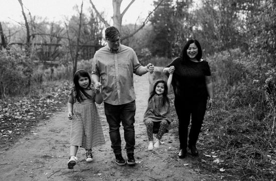 Fall Family Portraits - Family walk in the park